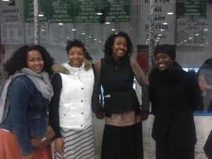 Out skating with my Sister's in Christ.