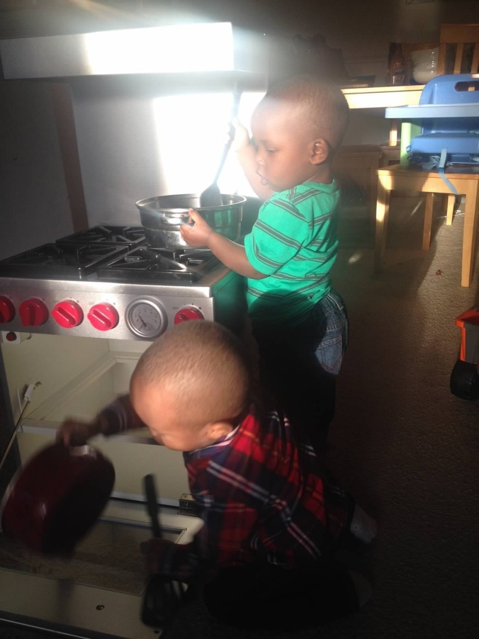 Cooking up yummies with Gavin!
