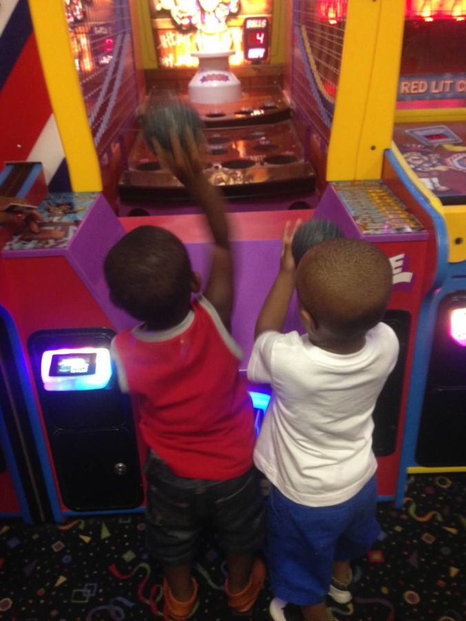 Arcade things with his Best Friend Gavin